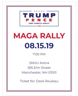 2019 08 15 Trump ticket