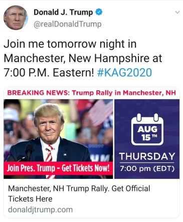 2019 08 15 Trump twitter
