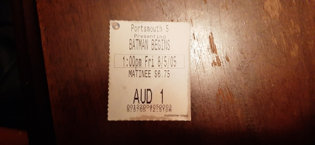 Batman Begins ticket